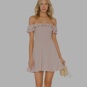 ENDLESS ROSE Smocked Bodice Dress in Dusty Rose S